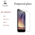 2 5D Tempered glass screen protector for iPhone 5 5S SE 5C 4S iPhone 6 6S