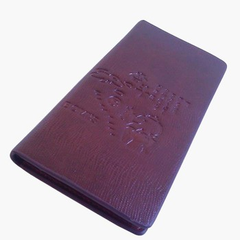 Leahter and PU men wallet /  wholesaler / factory price  / Mid Range long slim bifold wallet for man / classic bussiness wallet