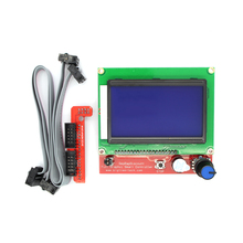 Smart Parts RAMPS 1.4 12864 Controller Control Panel LCD Display Monitor Motherboard Blue Screen Module Hot Sale for 3D Printer(China (Mainland))