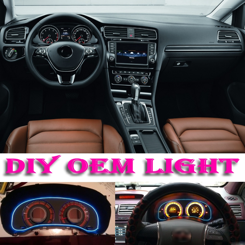 car atmosphere light flexible neon light el wire interior light decorative decals inside tuning. Black Bedroom Furniture Sets. Home Design Ideas