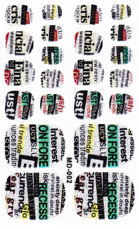DIY New Fashion Beauty Product 3d Toe Nail Art Foil Stickers Green English Letters Designer Manicure Auto Adhesive Decals(China (Mainland))