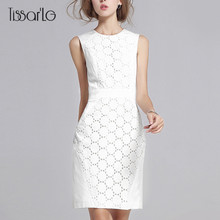 Buy TissarLG Women slim Dress 2017 New Fashion Elegant O-neck Solid Color Lace Patchwork Summer Dress white for $11.61 in AliExpress store