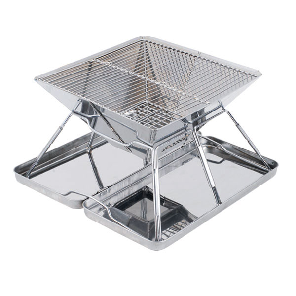 Outdoor barbecue grill,GaiaBBQ,portable folding stainless steel burn oven grill,Charcoal burning oven grill(China (Mainland))