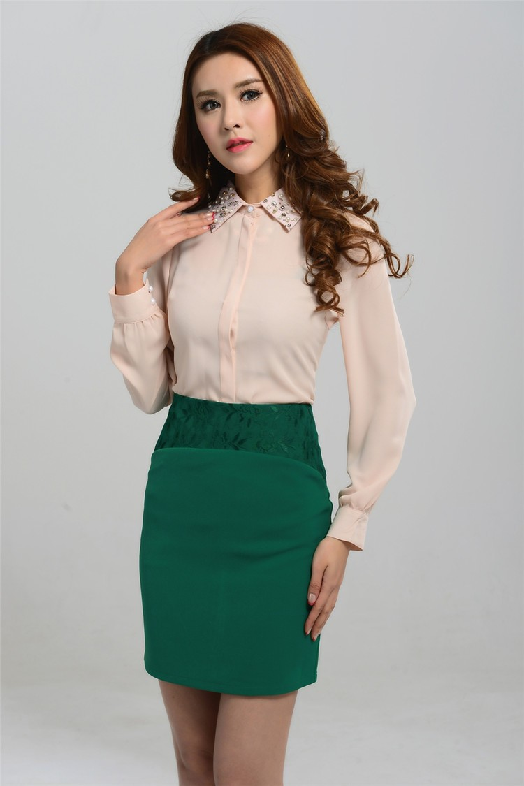 Innovative Women39s Cotton Belted Sleeveless Peplum Blouse Pencil