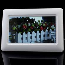 "Nuovo 7 ""tft lcd digital photo frame alarm clock support u sd mmc MS usb bianco(China (Mainland))"
