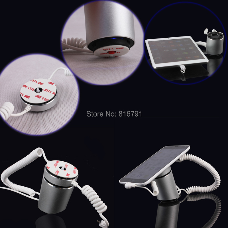 Newest Cell Phone Display Charging Stand Anti-theft Alarm Holder for Samsung Iphone or any Android Mobile Phone