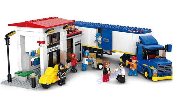 Sluban DIY Heavy Duty Van Truck Educational Building Block Toy Set B0318 For Children, 537pcs/set Best Gift,  Free Shipping<br><br>Aliexpress