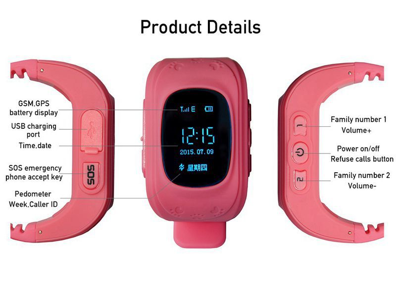 new arrive Mobile positioning tracking GPS Wirstwatch positioning Children Smart Watch Alarming watch for child(China (Mainland))