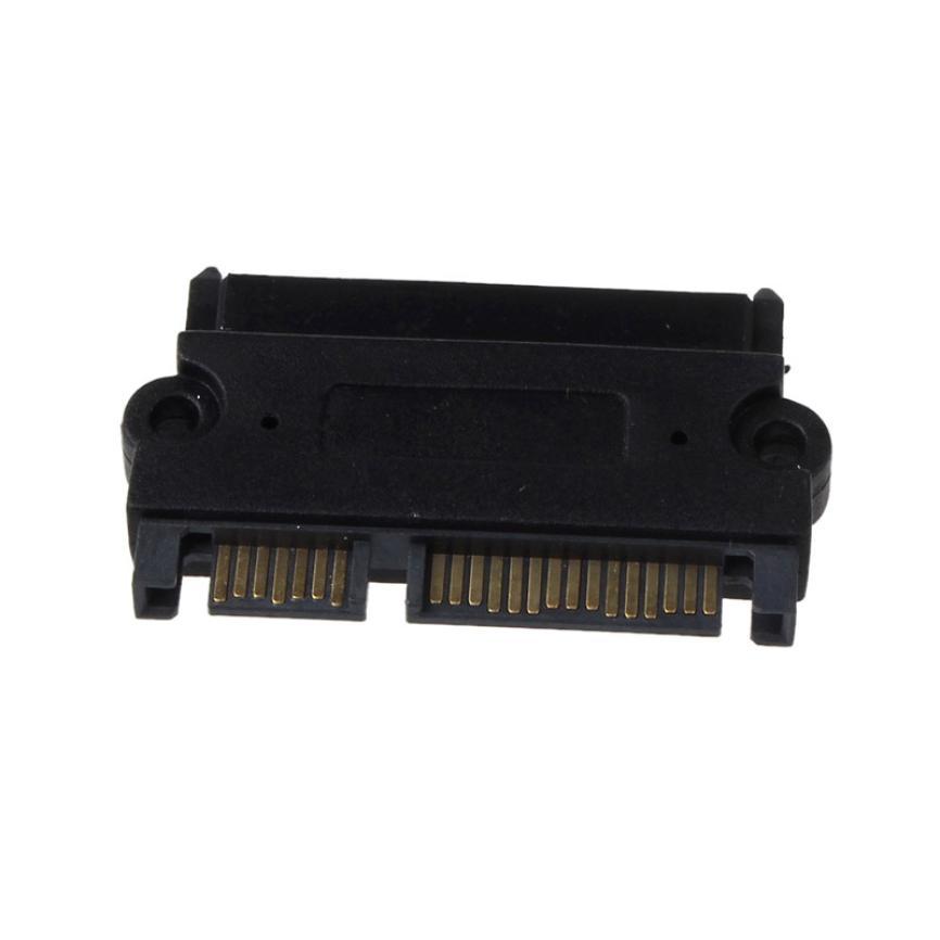 MOSUNX Futural Digital Selling SATA 22P 7+15 Pin Male Plug To SATA 22Pin 7+15 Female Jack Convertor Adapter Drop Shipping F35(China (Mainland))