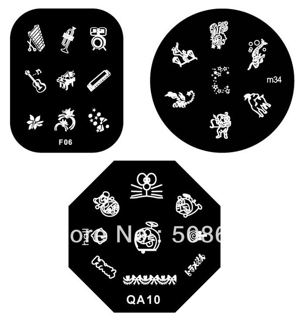 Free Shipping 100pcs/lot Round Nail Art Stamp Image Plate Printing Plate Template topwin freeshipping