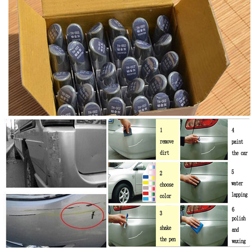 Pro Mending Car Remover Scratch Repair Paint Pen Clear care waterproof sticker for all Mazda Volvo Hyundai Volkswagen VW  etc Wh<br><br>Aliexpress