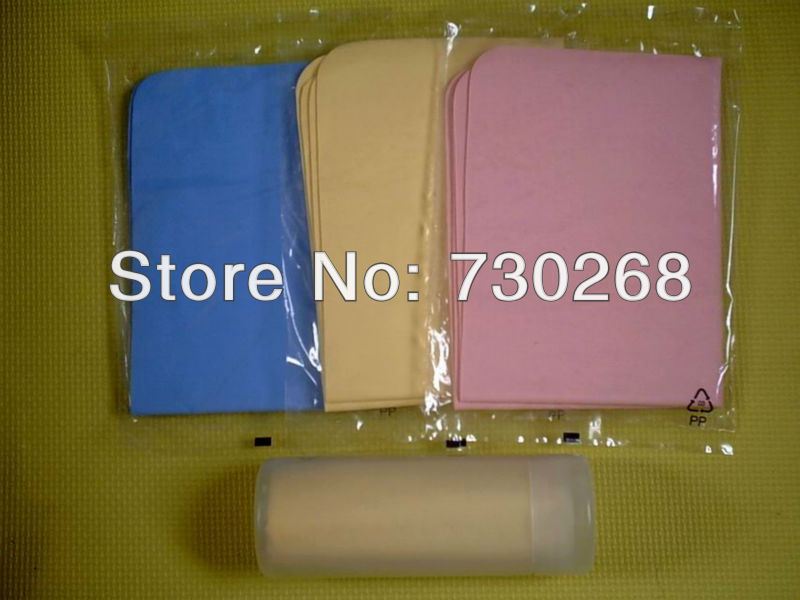 Wholesale compressed PVA chamois deerskin towel 43*32*0.2 shammy car wash towel dry hair towel cleaning cloth free shipping(China (Mainland))