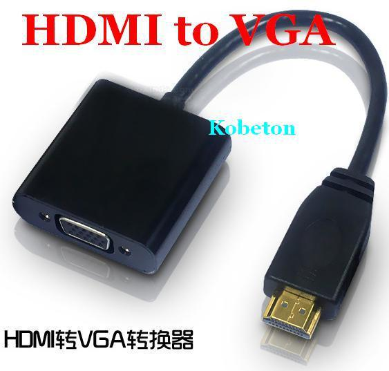 HDMI to VGA Cable Adapter Converter Male To Female With Built-in Chipset and up to 1080p for XBOX ONE 360 for Sony PS2 PS3(China (Mainland))