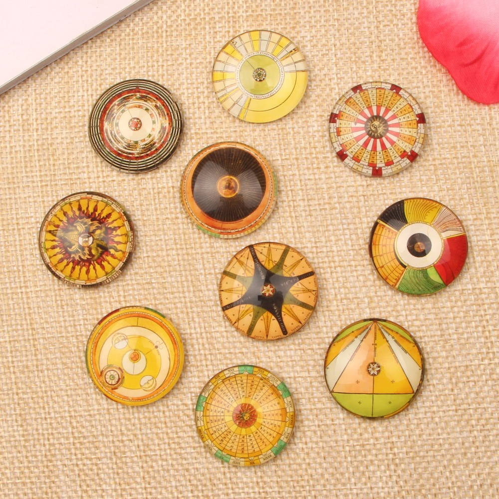 Mixed Round Photo Glass Cabochon 10mm 12mm 14mm 18mm 20mm 25mm diy necklace pendants earrings accessories(China (Mainland))