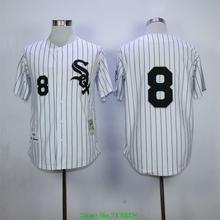 Bo Jackson Jersey 8# Throwback Baseball Jersey Black Gray White Size M-XXXL(China (Mainland))