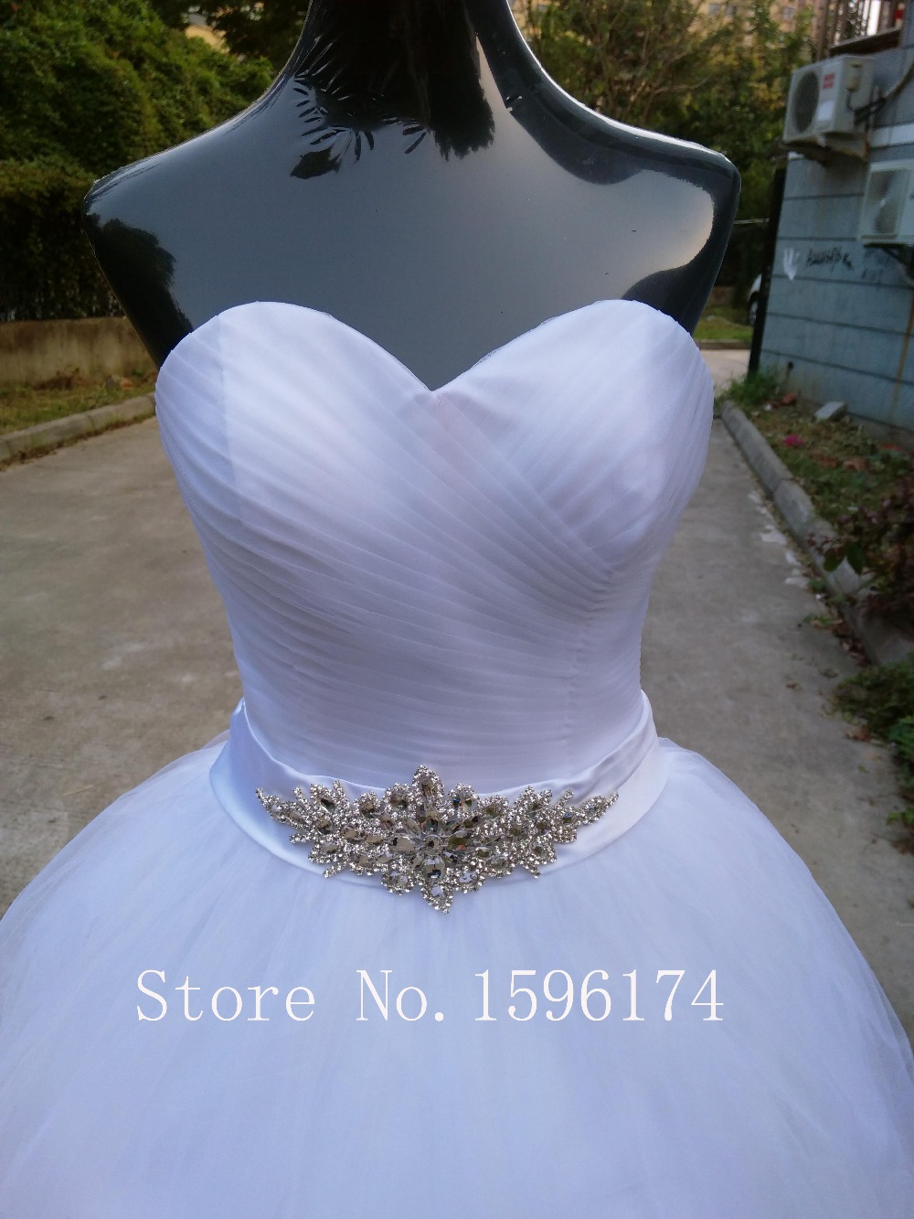 Free Shipping 2016 New Arrival Bridal White Ivory Wedding Dress bridal Gown Custom Size 4 6