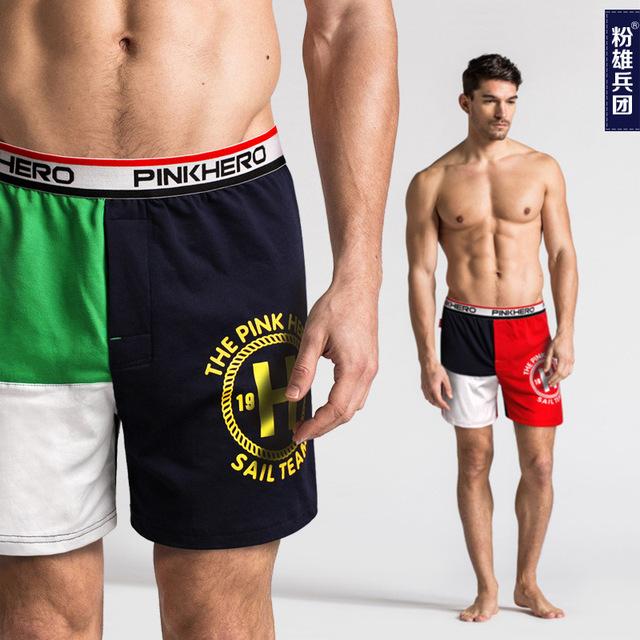 Пляжные шорты мужские комфорт пижамы мужской хлопок свободного покроя бутик спать ...