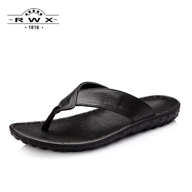 Мужчины тапочки свободного покроя обуви вьетнамках благоустроенный пляж тапочки массаж ...