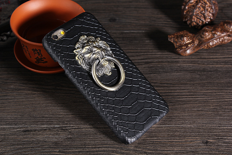 Luxury 3D Lion Head Metal Ring Holder Stand Phone Cases For iPhone 6 6s 4.7/Plus 5.5/5 5S Cool Hard Kickstand Back Cover Case(China (Mainland))