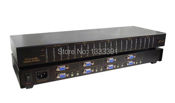 4x4 VGA Matrix Switch 4 in 4 out VGA Switcher with Auido 4x4 VGA Matrix Switch&splitter by EMS(China (Mainland))