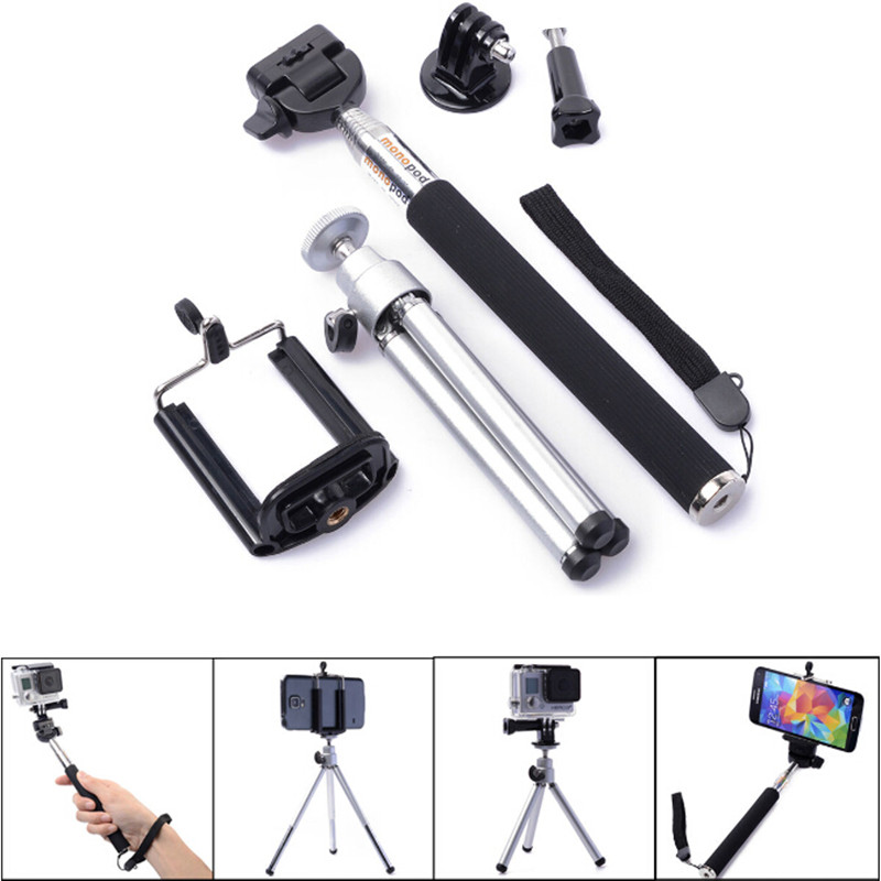 Camera Mini Tripod Stand for Go Pro Extendable Tripe Monopod Tripode Mount Cellphone Holder for GoPro Hero 3 4 Accessories(China (Mainland))