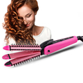 Professional Electric Hair Straighteners Curling 3 in 1 Machine Iron Hair Straightening Curler Roller Comb Hair