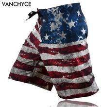 VANCHYCE traje de baño para hombre pantalones cortos de playa para hombre Bermuda Short Quick Dry Silver para Hombre Pantalones cortos de verano para Hombre Pantalones cortos de marca(China)