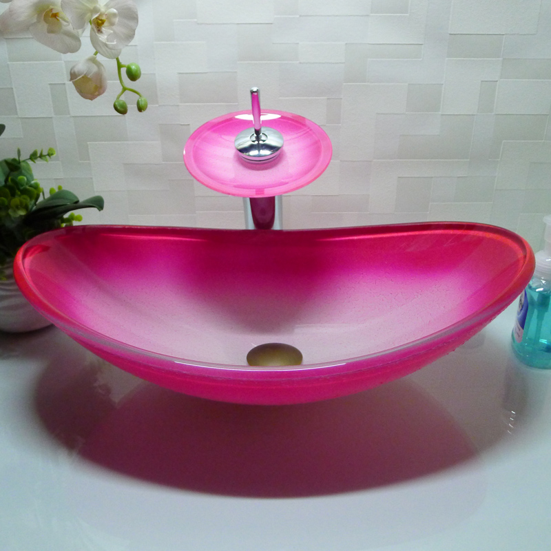 popular pink vessel sink buy cheap pink vessel sink lots