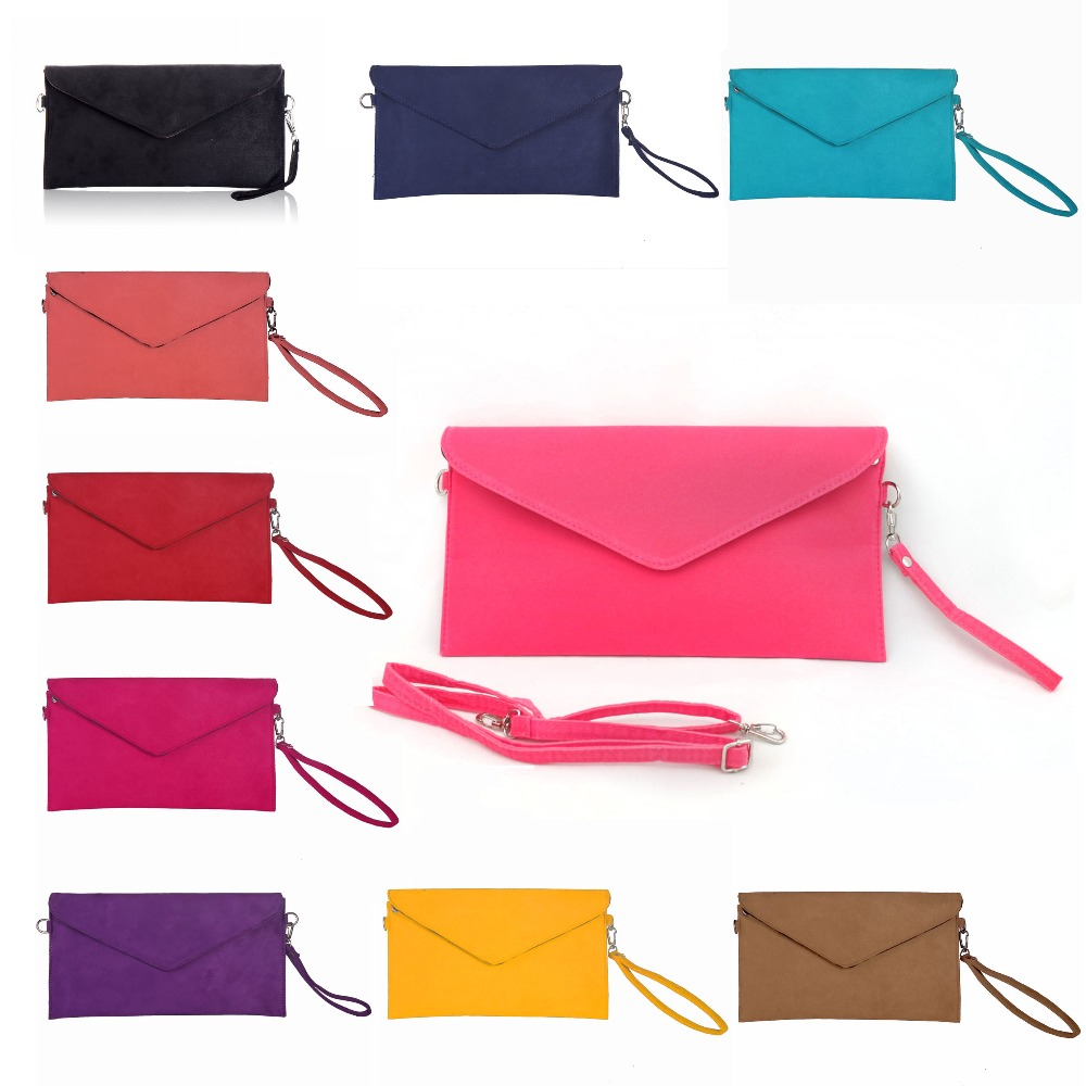 Fashion Generous design Women's party evening Clutch Faux Suede shoulder bag Ladies Handbag messenger crossbody envelope bags(China (Mainland))