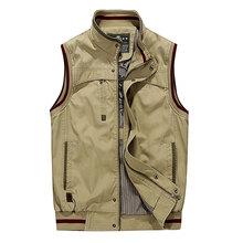 4XL 2016 Spring Casual Men Vest Coat Manteau Homme Brand Clothing Cotton Pocket Cargo Outdoor Sleeveless Jackets Waistcoat Vests(China (Mainland))