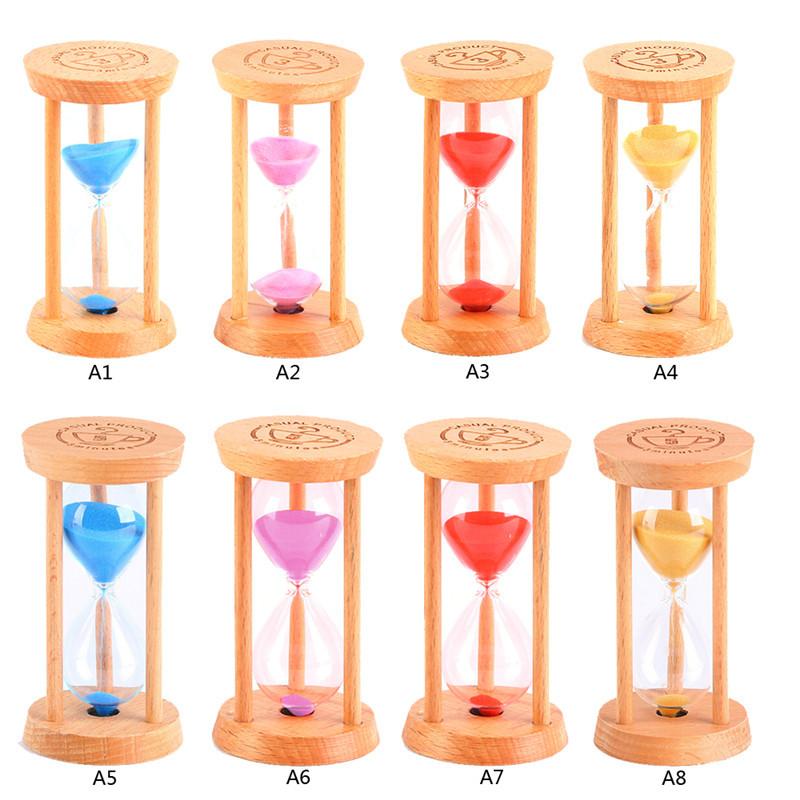 1 PC New 3 Minutes Wood Frame Glass Sand Sandglass Hourglass Timer Clock Time Decor Gift P50(China (Mainland))