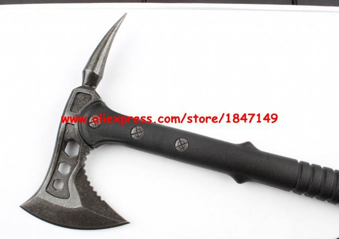 Top quality Solid SHOOTEY AXE Stone Wash Fine cast Hatchet and Axe Multifunction Nylon Fiberglass Handle