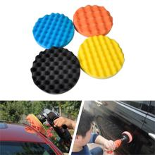 High Quality New 4pcs Soft Wave Foam Pad Polishing Buffer Pad For Car Buffing Vehicle Ceramics Mirror Polishing Glazing Tracking(China (Mainland))