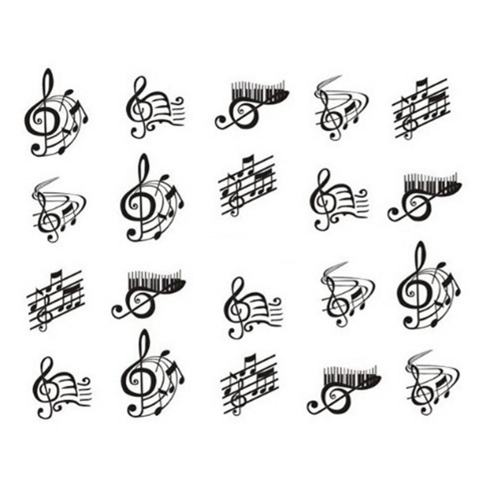 Дизайн ногтей ноты ноты