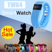 Новые TW64 Smartband смарт браслет браслет фитнес трекер Bluetooth 4.0 Smartwatch спорт здоровье шагомер для ios