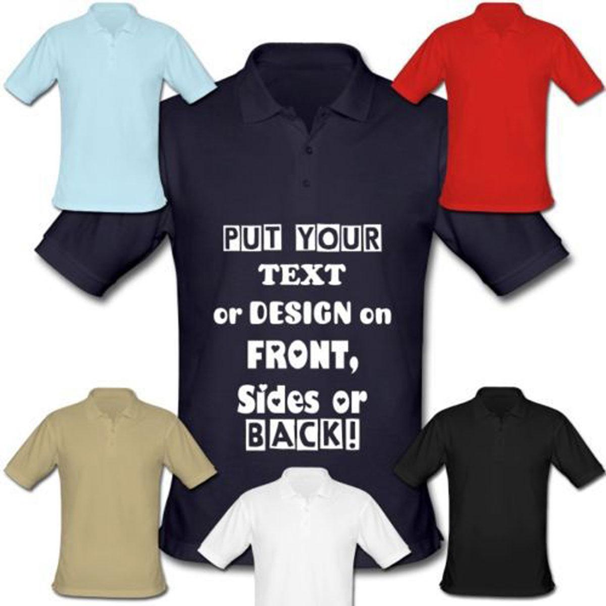 Customized LOGO print turn collar t shirt short sleeve cotton, personalized pattern brand tee shirt Logomarca embroidered(China (Mainland))