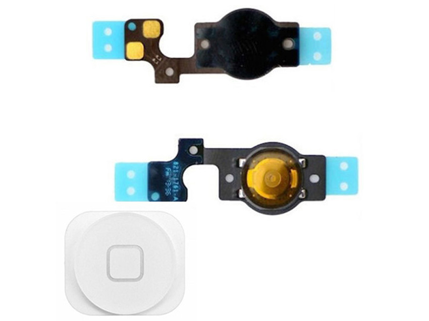 10 PCS/Lot Touch ID Sensor Home Button Key Flex Cable Assembly for iphone 5S/5G New Home Button Menu Button Parts