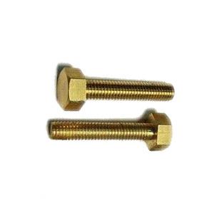 M8 * 35 Brass Hex bolt DIN933 50 pieces<br><br>Aliexpress