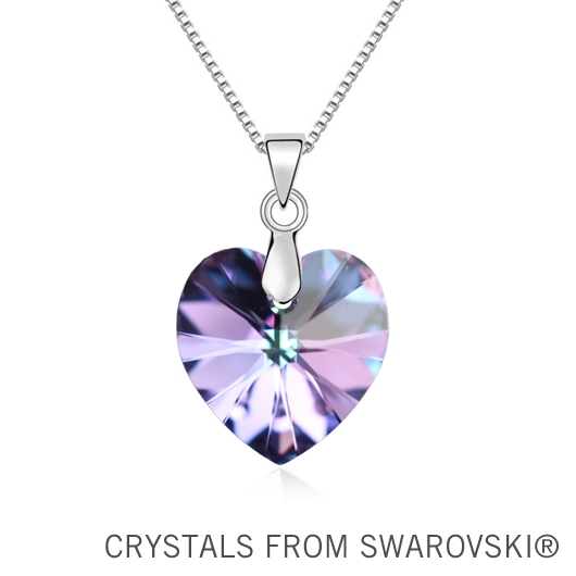 100% Original SWAROVSKI ELEMENTS crystal heart pendant necklace new arrival for 2015 Mother's gift(China (Mainland))