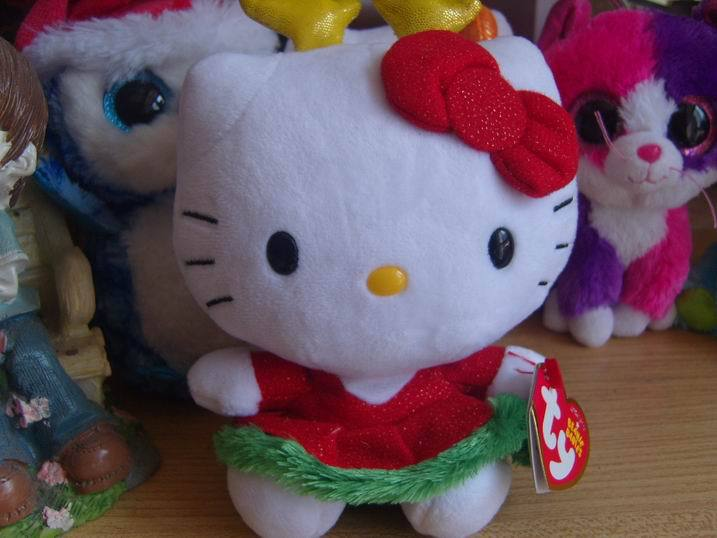 collection beanie babies big eyes stuff doll toy 6 inches hello kitty(China (Mainland))