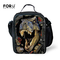 Trendy Printing Animal Dinosaur Lunch Bag Men Food Thermal Bag Small Zoo Lunchbox for Boys Children