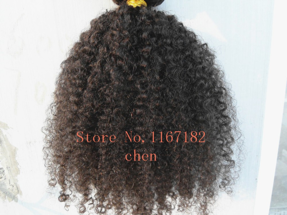 brazilian hair extensions afro kinky curly clips in hair weft double drawn 9pcs/lot natural black unprocessed color curly hair