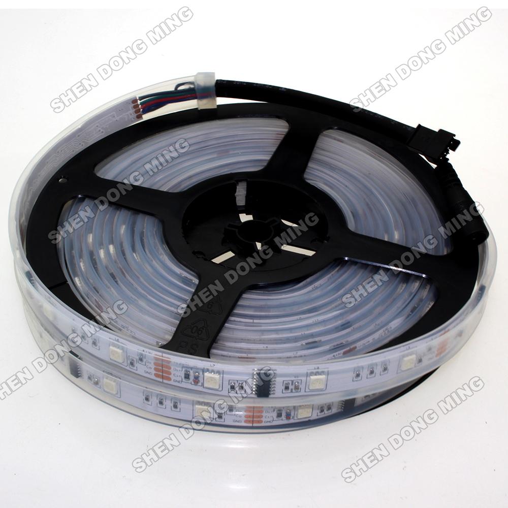 Tube Waterproof IP67 Led Pixel Strip 5050 SMD 20m/lot RGB Led Strip WS2801 96Leds 32IC/M flexible led ribbon tape(China (Mainland))