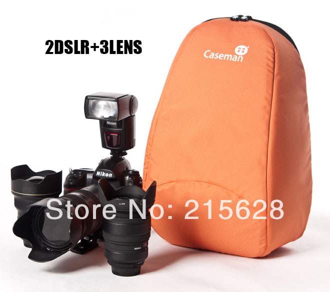 Professional Partition Padded DSLR Camera Video liner Bag backpack SLR Shockproof lens Case Cannon Nikon Pentax#caseman