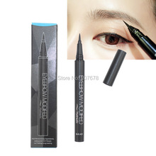 Professional Black With Brown Waterproof Liquid Eyebrow Pen Very Fine Modfed Pencil Makeup Free Shipping(China (Mainland))