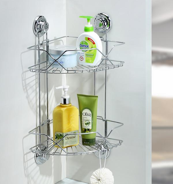 Two Layer stainless iron conner shelf blasket bathroom shelf wall mounted bathroom shower caddy shelf mug shelf<br><br>Aliexpress