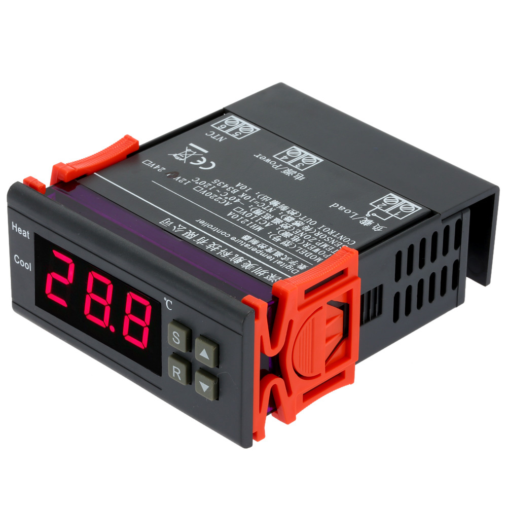 10A12V Digital Temperature Controller thermal regulator Digital Thermocouple Thermostat thermometer 40 to120 Degree with Sensor(China (Mainland))