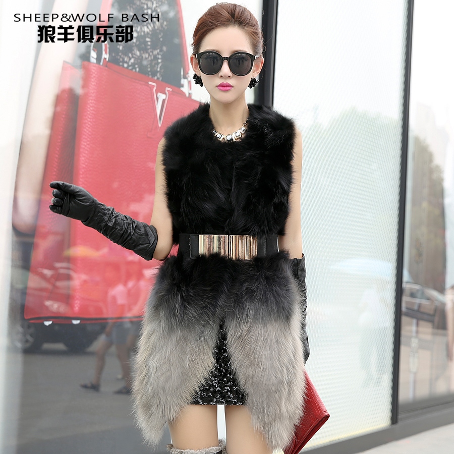 2015 new shades of winter fur vest female raccoon fur Zhongchang fur vest and the wind brigorОдежда и ак�е��уары<br><br><br>Aliexpress
