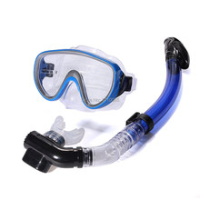 New Swimming Scuba Anti-Fog Goggles Mask PVC Dive Diving Glasses w/ Dry Snorkel Set FreeShipping(China (Mainland))