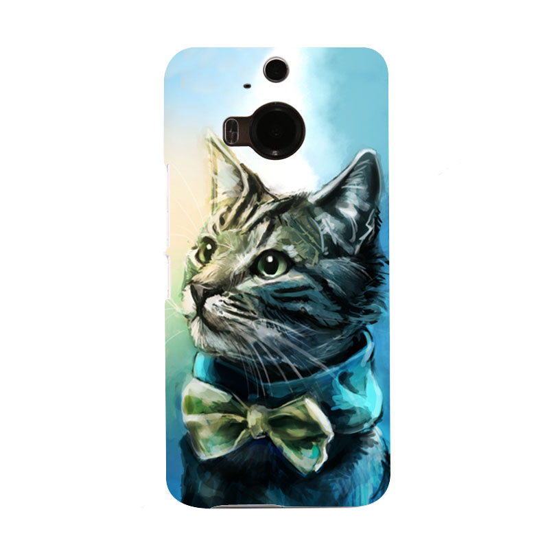 Handsome Cat Customise Make Hard Telephone Case for HTC M9 Only One and M9 PLUS(China (Mainland))